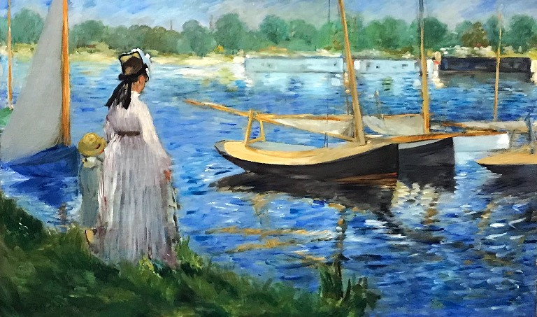 Edouard Manet, Banks of the Seine at Argenteuil, 1874, The Courtauld Gallery, London.