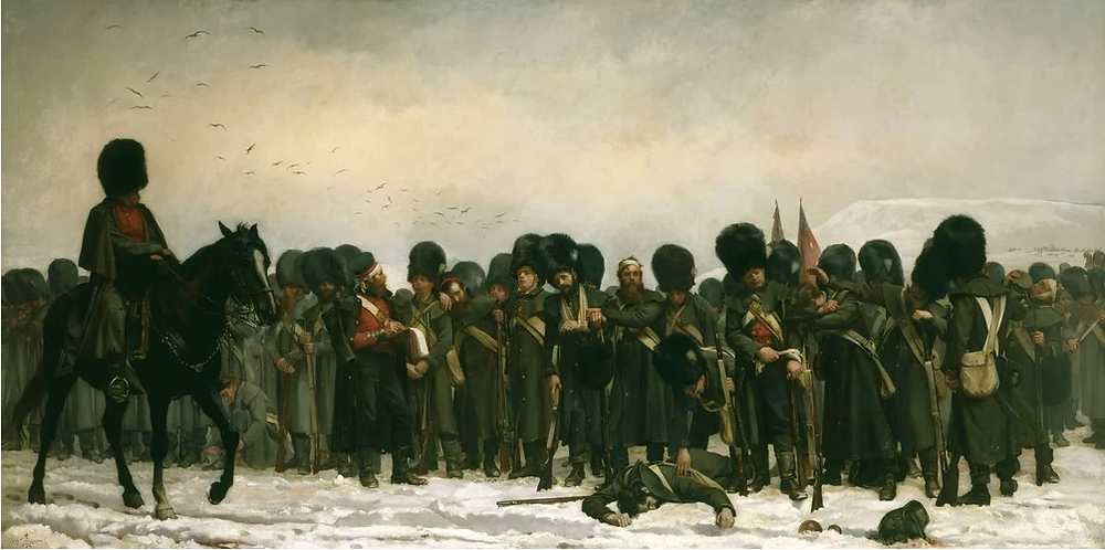 The Roll Call: calling the roll after an engagement in Russia, Crimea, 1874, Elizabeth Southerden Thomas, Royal Collection Trust