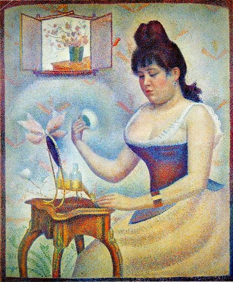 Georges Seurat, Young Woman Powdering Herself, 1888-90, The Courtauld Gallery, London.