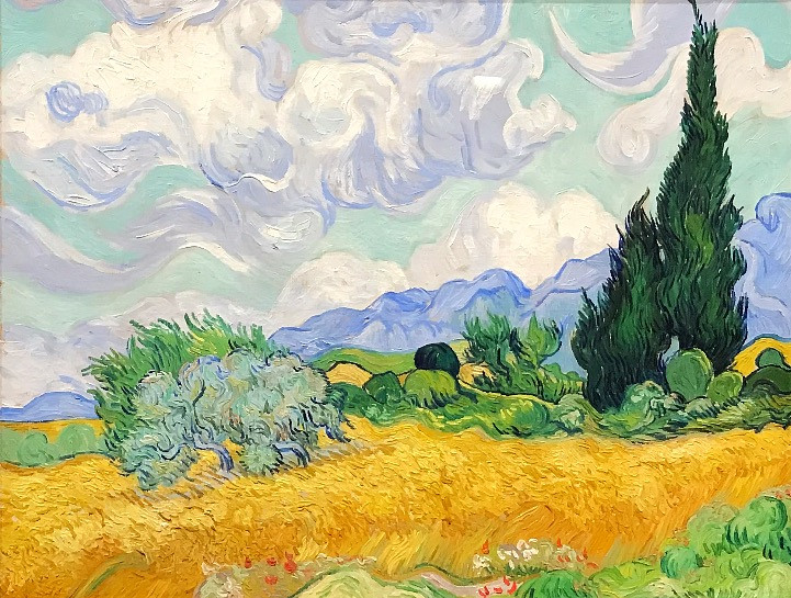 Vincent van Gogh, A Wheatfield, with Cypresses, 1889, National Gallery, London