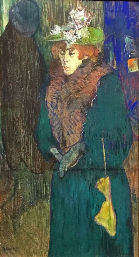Henri de Toulouse-Lautrec, Jane Avril in the Entrance to the Moulin Rouge, c. 1892, The Courtauld Gallery, London