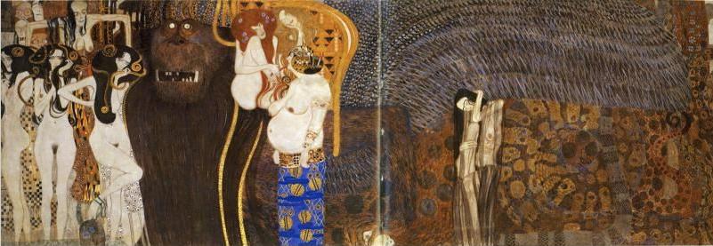 Gustav Klimt, Beethoven Frieze, 1902, Vienna Secession, Austria