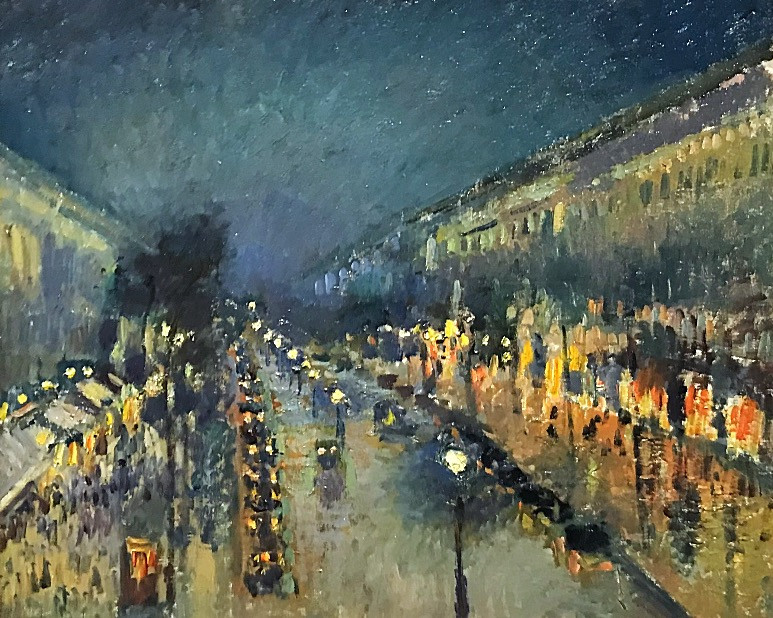 Camille Pissarro, The Boulevard Montmartre at Night, 1897, National Gallery, London