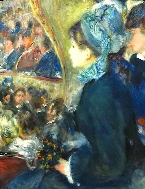 Pierre-Auguste Renoir, At the Theatre (La Première Sortie), 1876-7, Courtauld Fund, 1923.