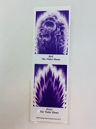Marcador de Livro Fogo Violeta 6X18