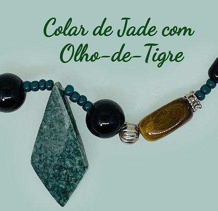 Colar de Jade com Olho-de-Tigre México Ti