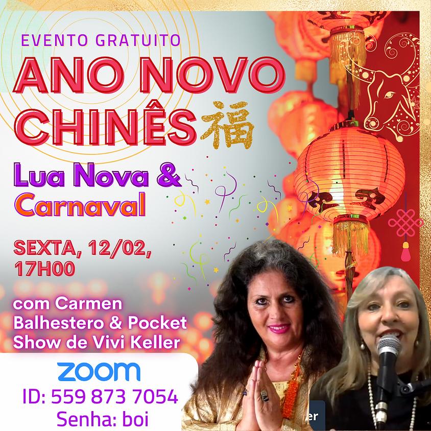 EVENTO GRATUITO - Ano Novo Chinês, Lua Nova & Carnaval com Carmen Balhestero e Vivi Keller