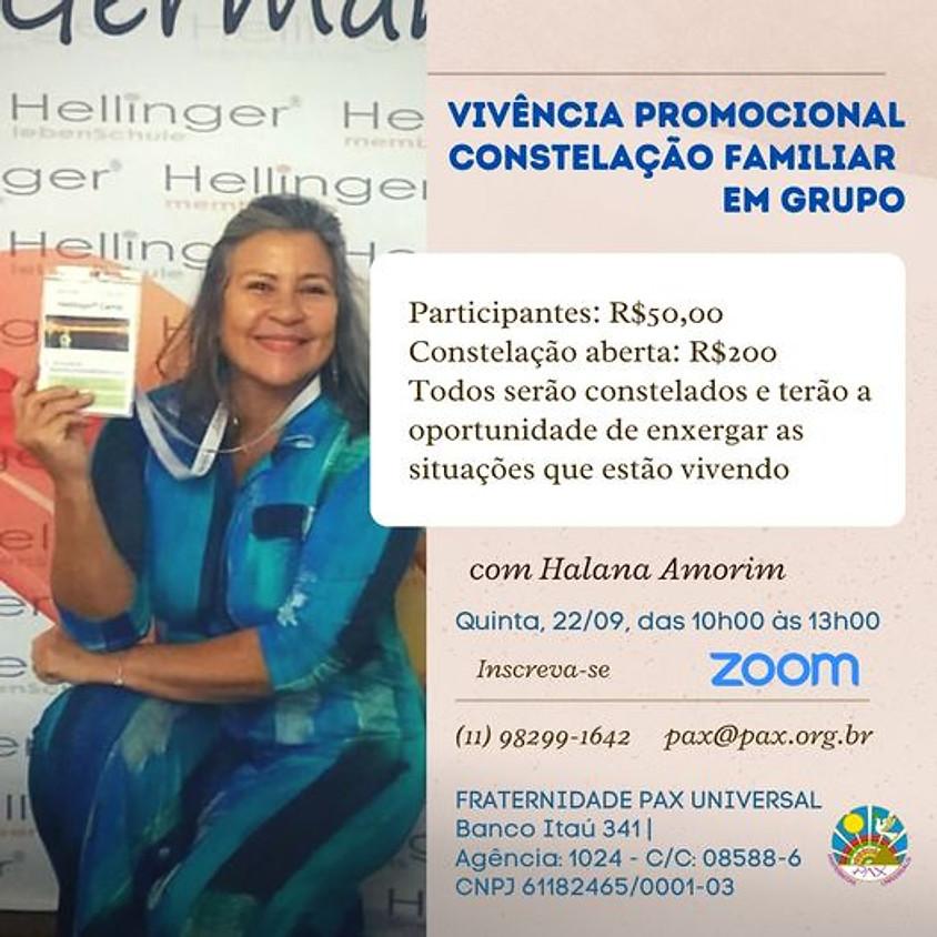 Vivência Promocional de Constelação Familiar em grupo com Halana Amorim