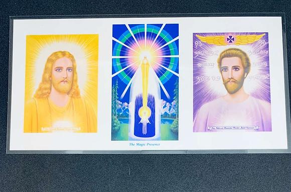 Altar Tríade - Mestre Jesus, Presença Eu Sou e  Saint Germain 27x14