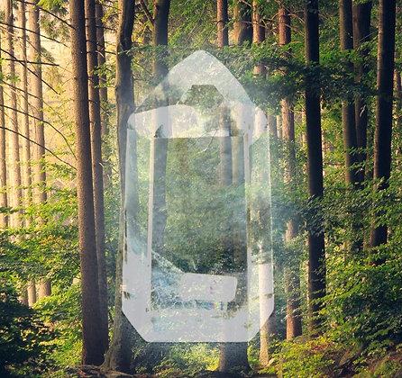 Ponta Média de Cristal de Quartzo Branco