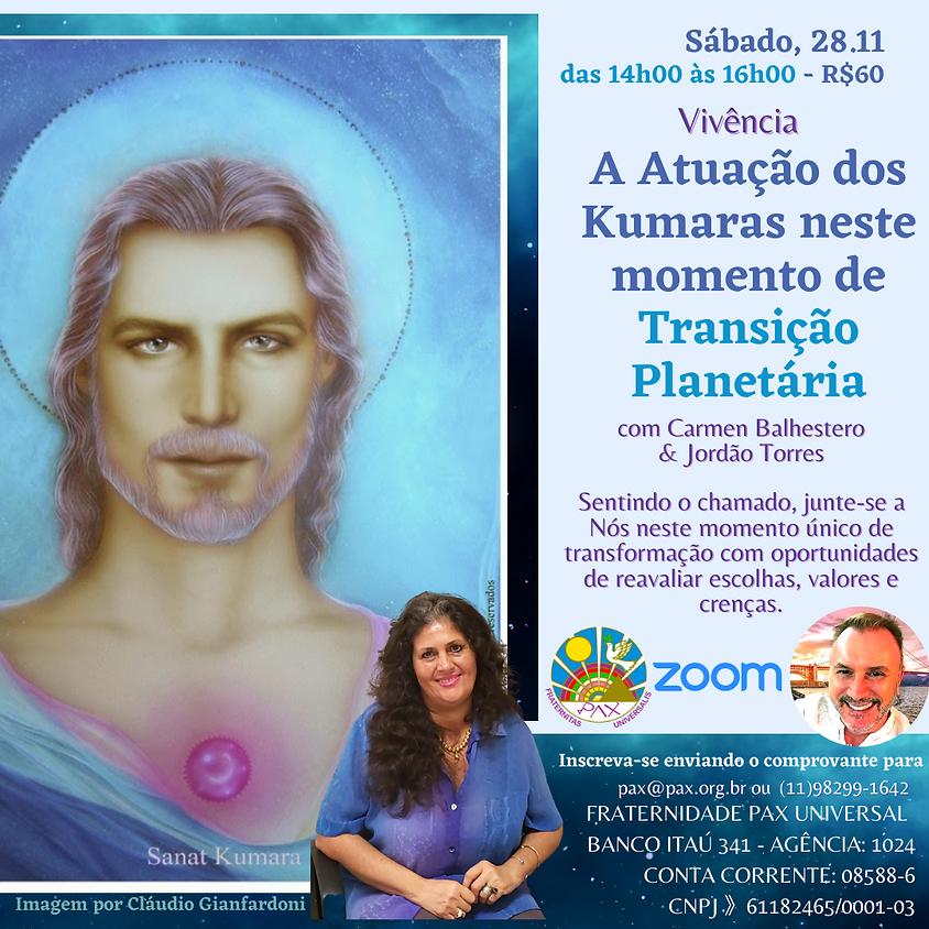 Atuação dos Kumaras neste momento de Transição Planetária com Carmen Balhestero e Jordão Torres