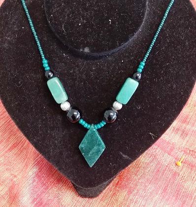 Colar de Jade com Quartzo Verde
