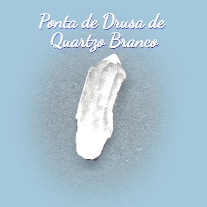 Ponta de Drusa de Quartzo Branco