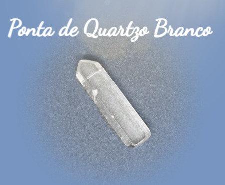 Ponta de Cristal de Quartzo Branco P