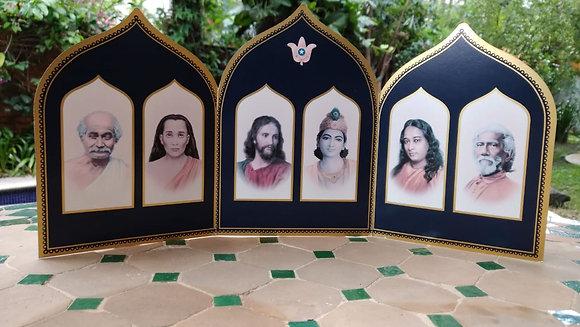 Altar Tríptico Gurus de Yogananda