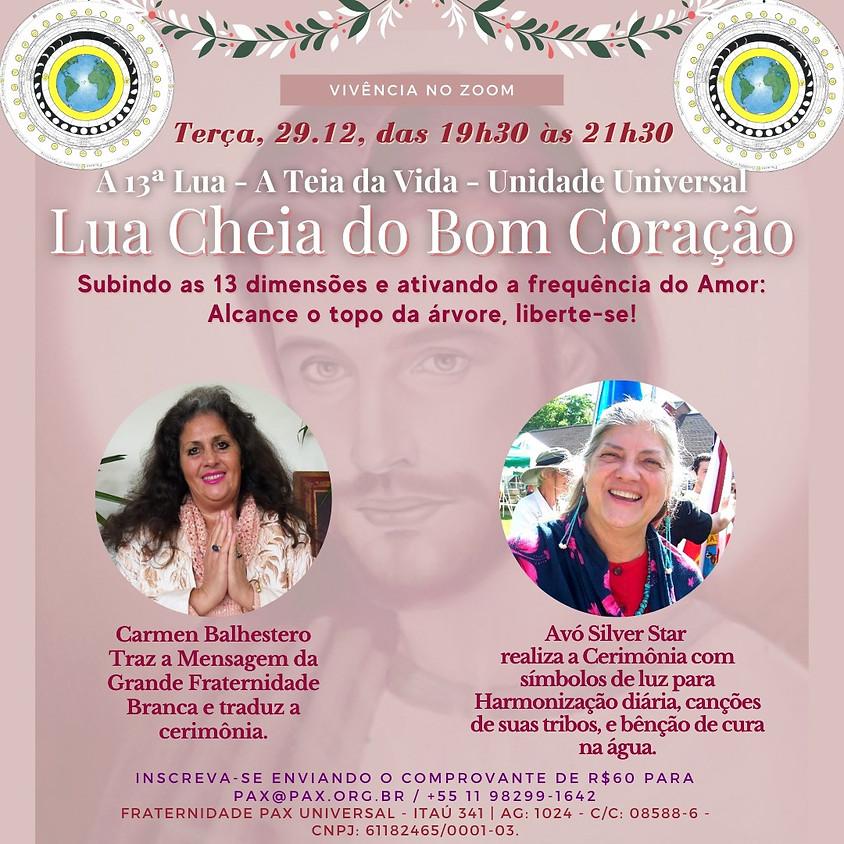 Vivência Lua Cheia Do Bom Coração - com Carmen Balhestero e Silver Star