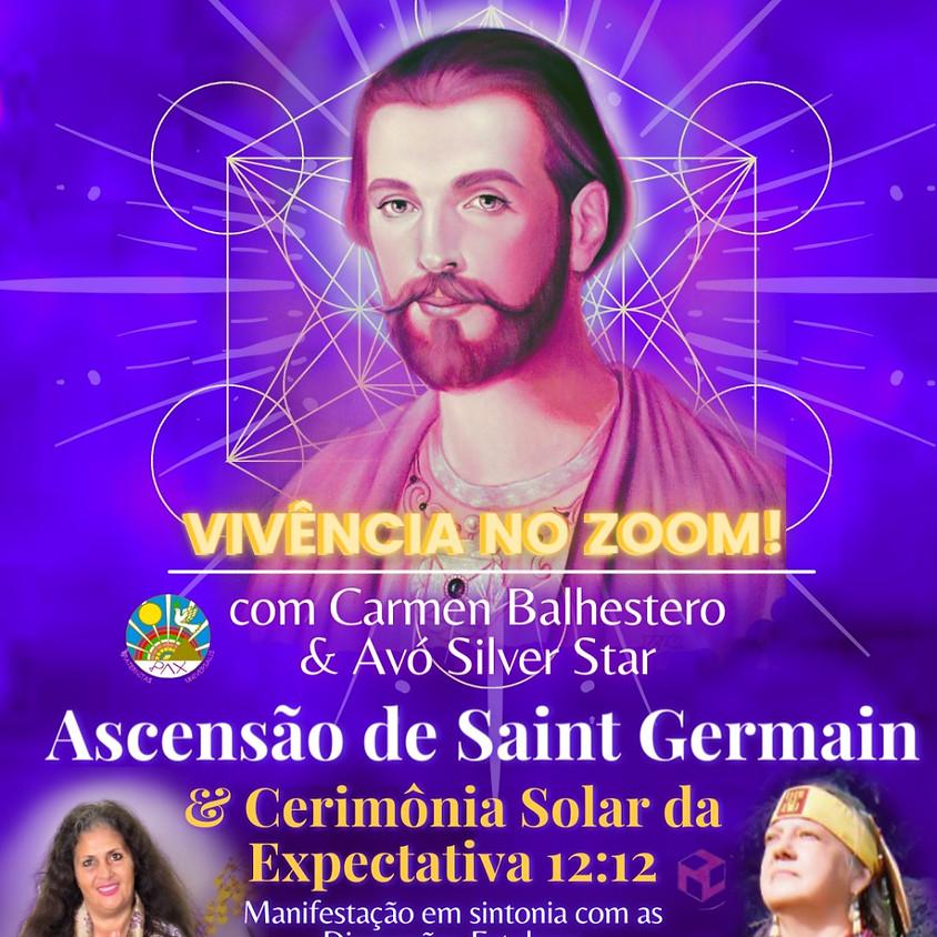 Ascensão do Mestre Saint Germain - Cerimônia Solar da Expectativa - com Carmen Balhestero e Avó Silver Star