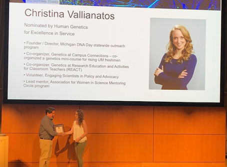 Christina wins Excellence in Service Award