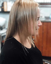 Hair Extension transformation before