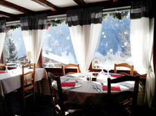 Restaurant with view of Val d'Abondance