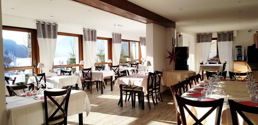 Restaurant with view on Val d'Abondance France Haute-Savoie