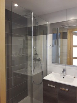 Shower room with easy access