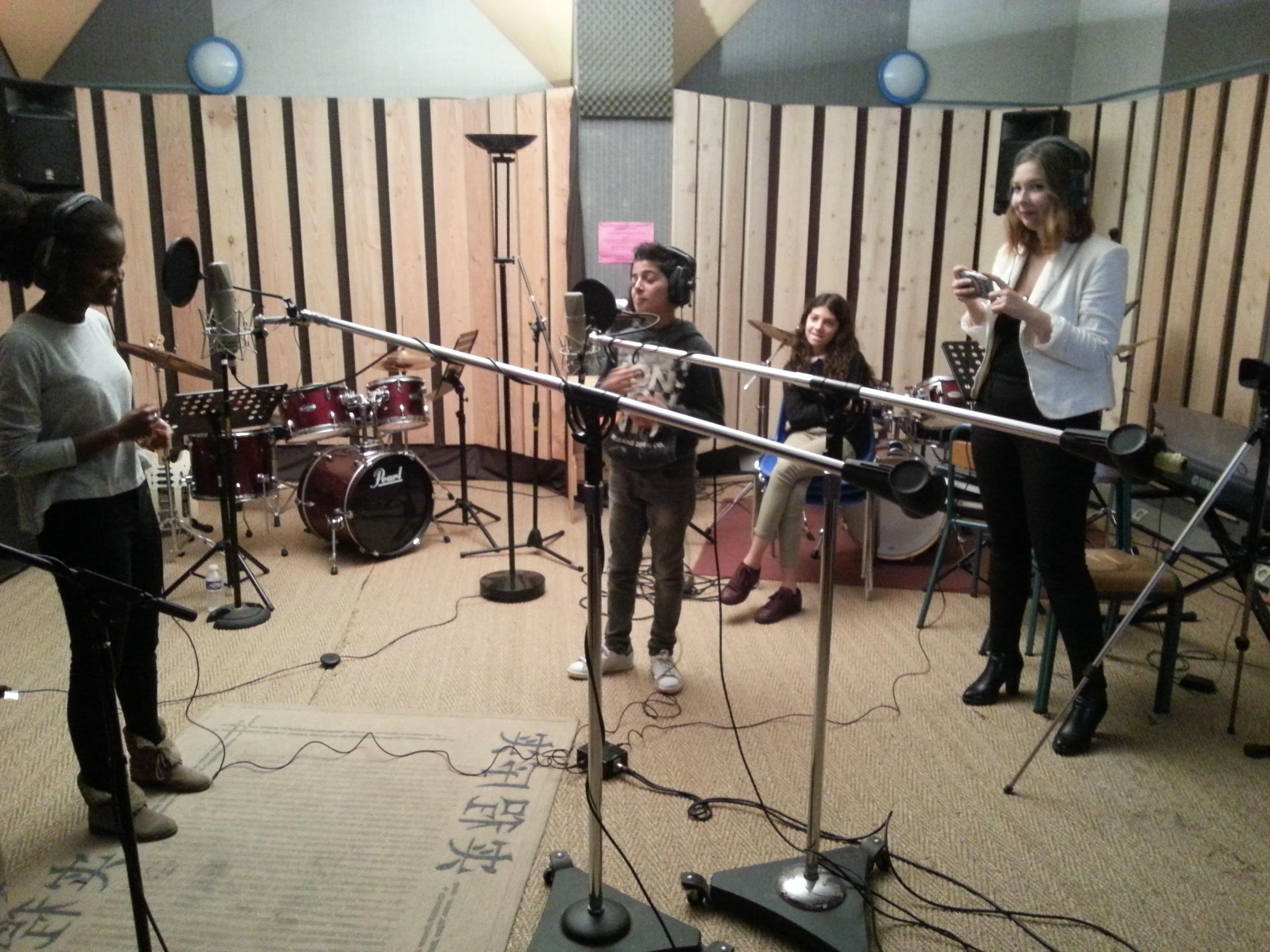 Session d'enregistrement à Chorus