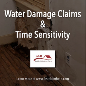 Water Damage Claims & Time Sensitivity