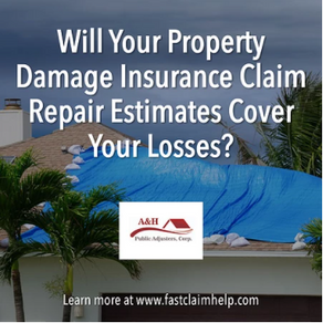 Will Your Property Damage Insurance Claim Repair Estimates Cover Your Losses?