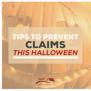 Tips to prevent Halloween Claims!