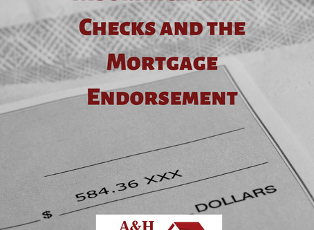 Claim Checks and the Mortgage Endorsement