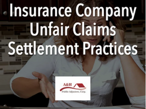 Insurance Company Unfair Claims Settlement Practices