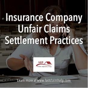Insurance Company Unfair Claims Settlement Practices