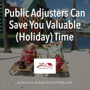 Public Adjusters Can Save You Valuable (Holiday) Time