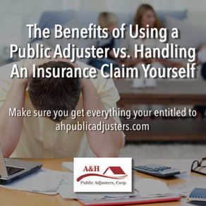 The Benefits of Using a Public Adjuster vs. Handling An Insurance Claim Yourself
