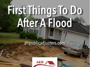 First Things To Do After A Flood