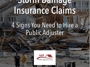 Storm Damage Insurance Claims: 4 Signs You Need to Hire a Public Adjuster