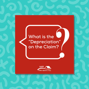 What is the Depreciation on the Claim?