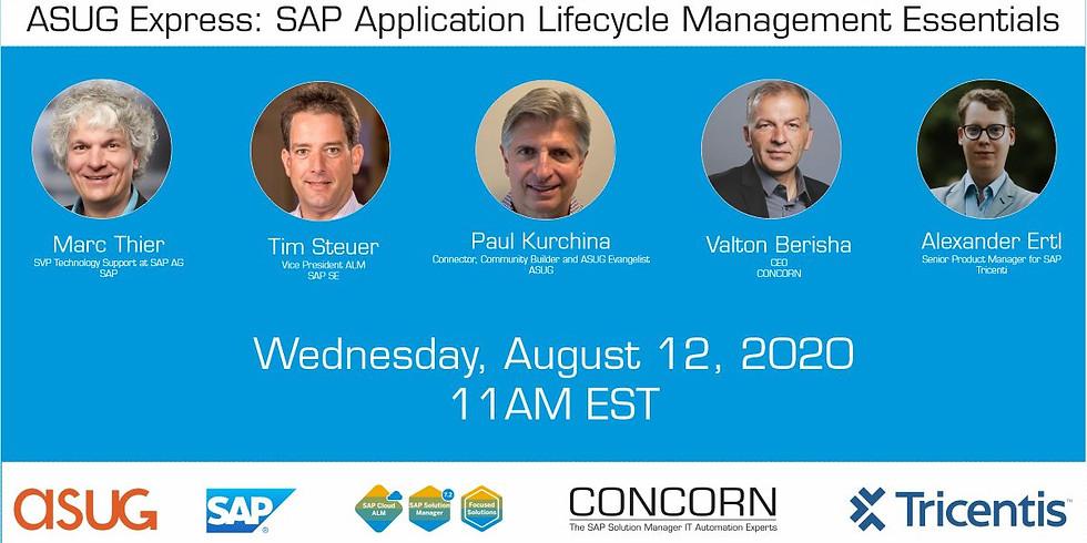 SAP Application Lifecycle Management Essentials