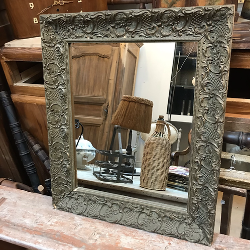 Miroir en bois et en stuc 1900