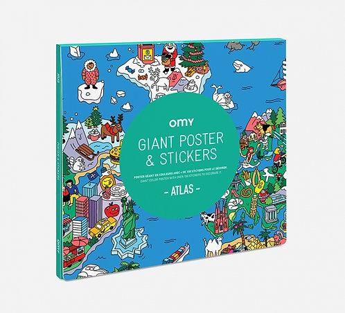 Poster géant avec stickers Atlas