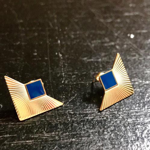 Boucles d'oreille blue corner