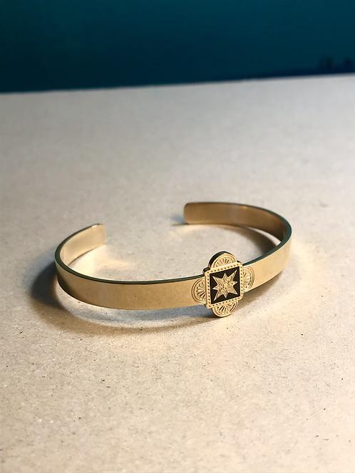 Bracelet gold & black star