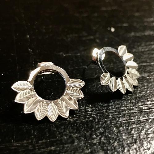 Boucles d'oreille silver leaves