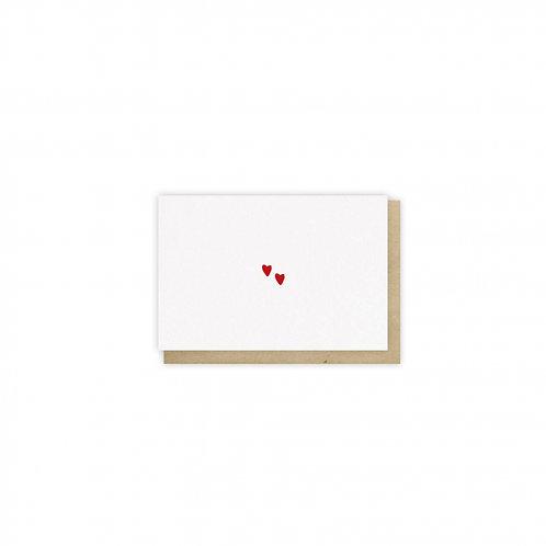 Carte de voeux coeurs