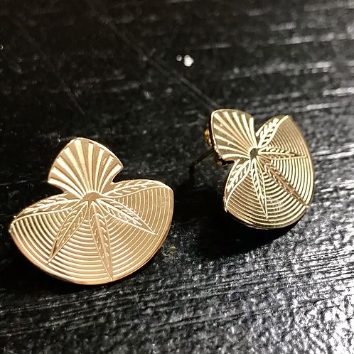 Boucles d'oreille gold shell