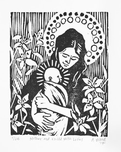 Mother and Child with Lilies