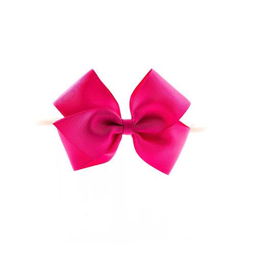 Medium London Bow Soft Headband - Azalea
