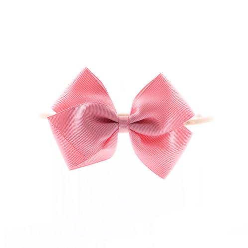Medium London Bow Soft Headband - Peony