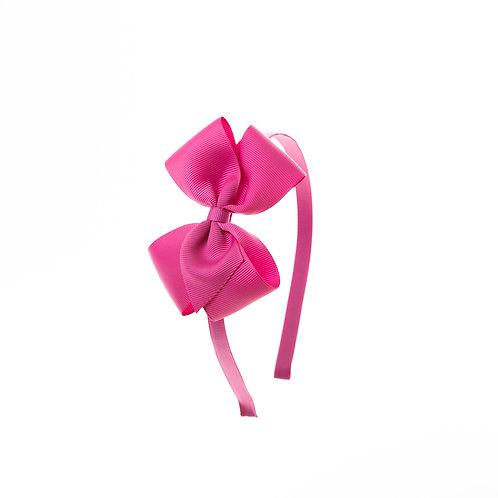 Medium London Bow Hairband - Azalea